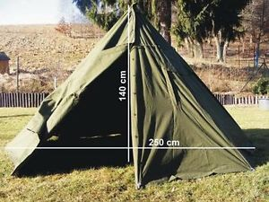 Polish army Olive military two man teepee lavvu army surplus tent WITH POLES 1-2 & Polish army Olive military two man teepee lavvu army surplus tent ...