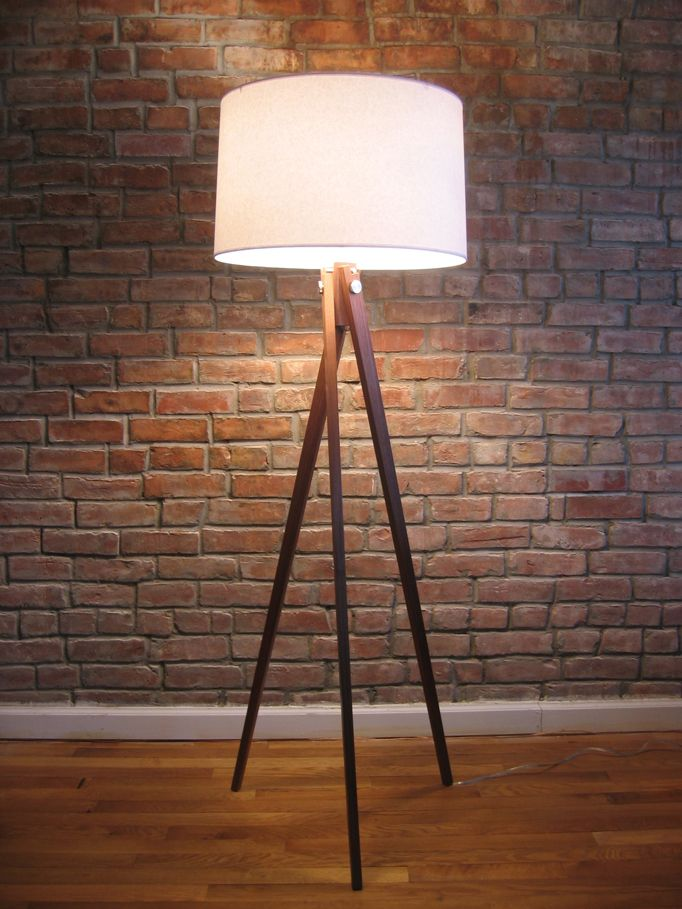 wooden tripod floor lamp next legs target with drum shade