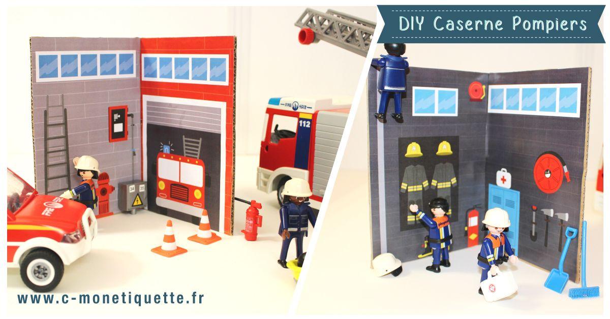 Diy caserne de pompiers l 39 atelier du mercredi c - Caserne de police playmobil ...