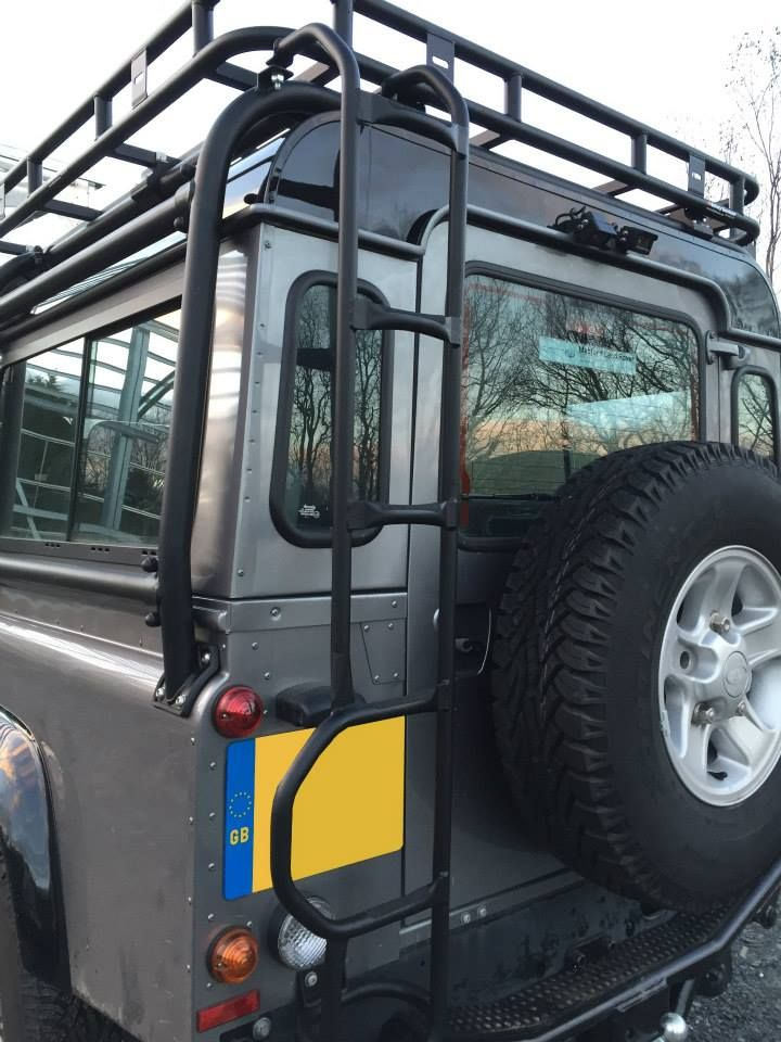 Land Rover Defender And Safety Devices Expedition Roof Rack Ladder