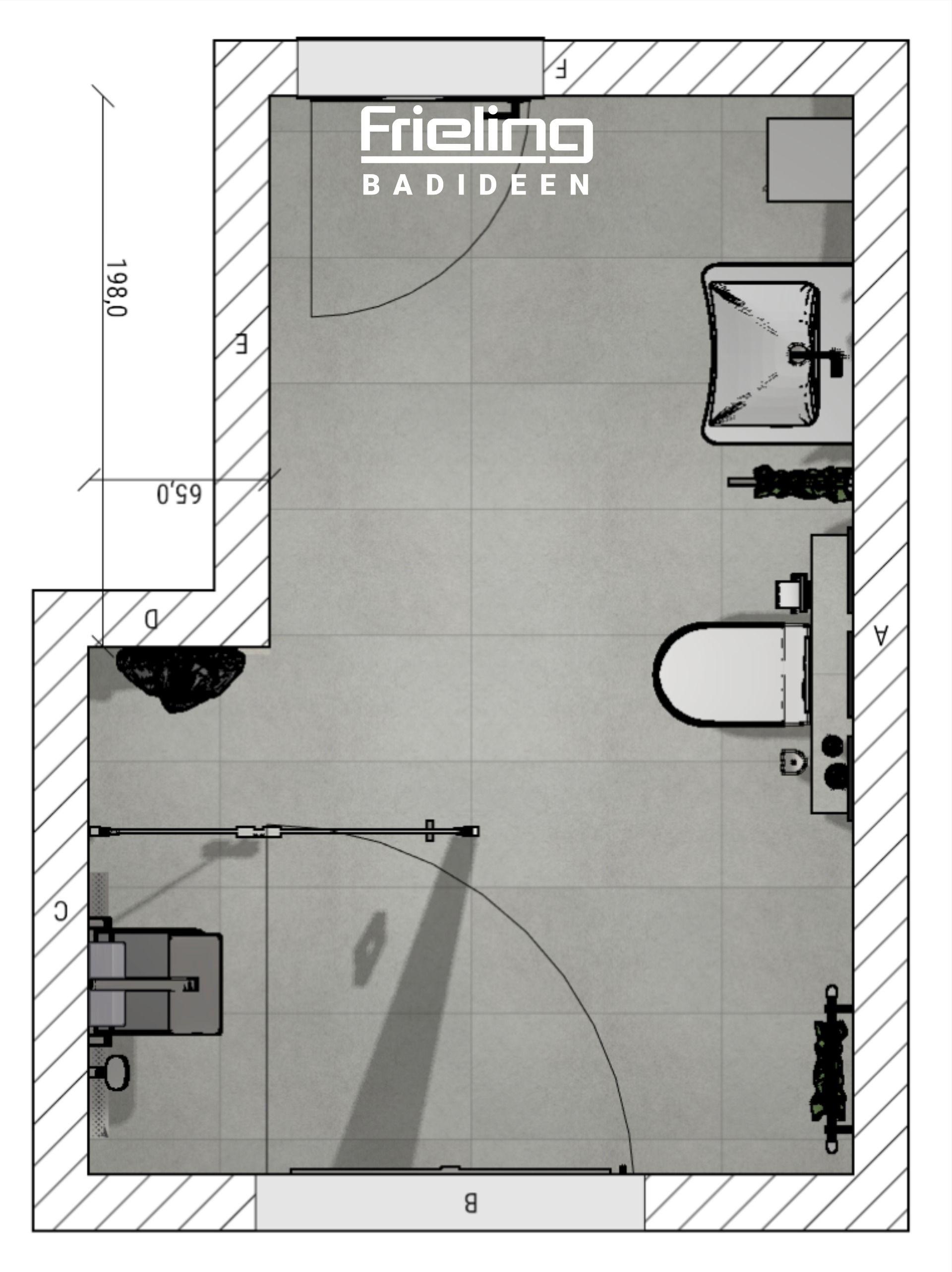 Das barrierefreie Bad mit Duschklappsitz   3D ...