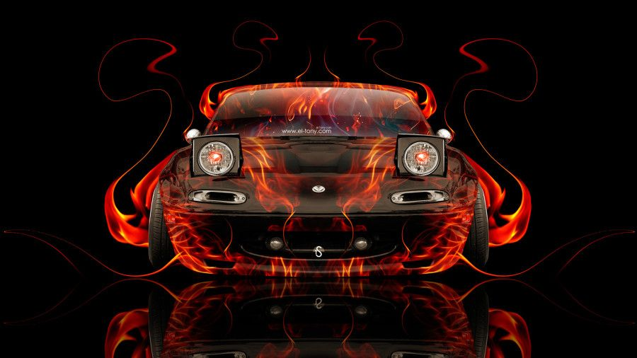 Charmant Mazda Miata JDM Front Fire Abstract Car 2014