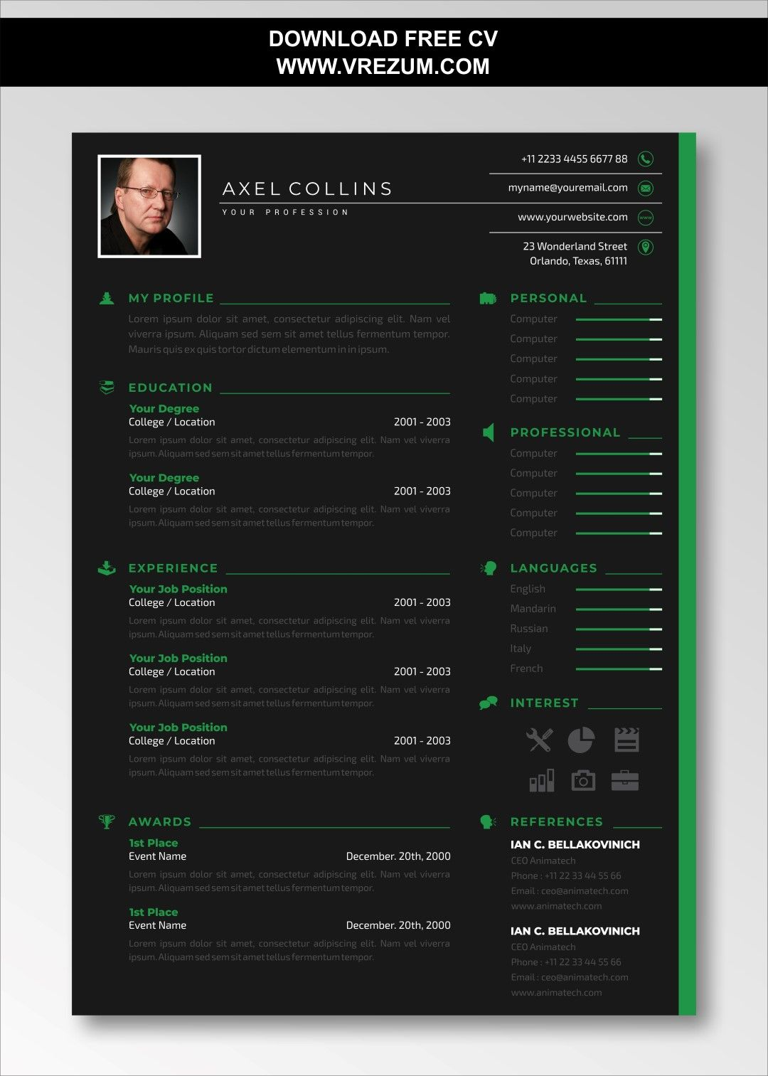 Editable free cv templates for civil engineer in 2020