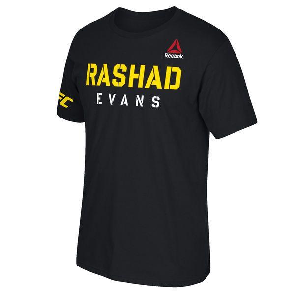 Rashad Evans UFC Reebok Fighter Stencil T-Shirt - Black - $14.99
