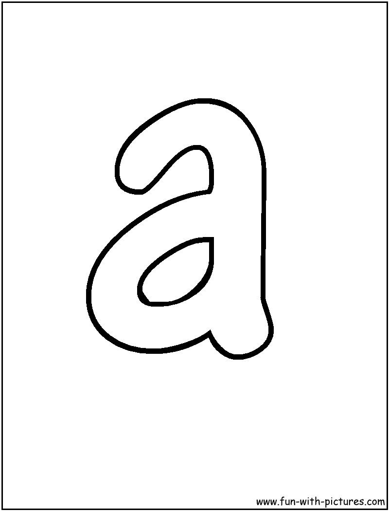 bubble letter a coloring page - A Colouring Pages