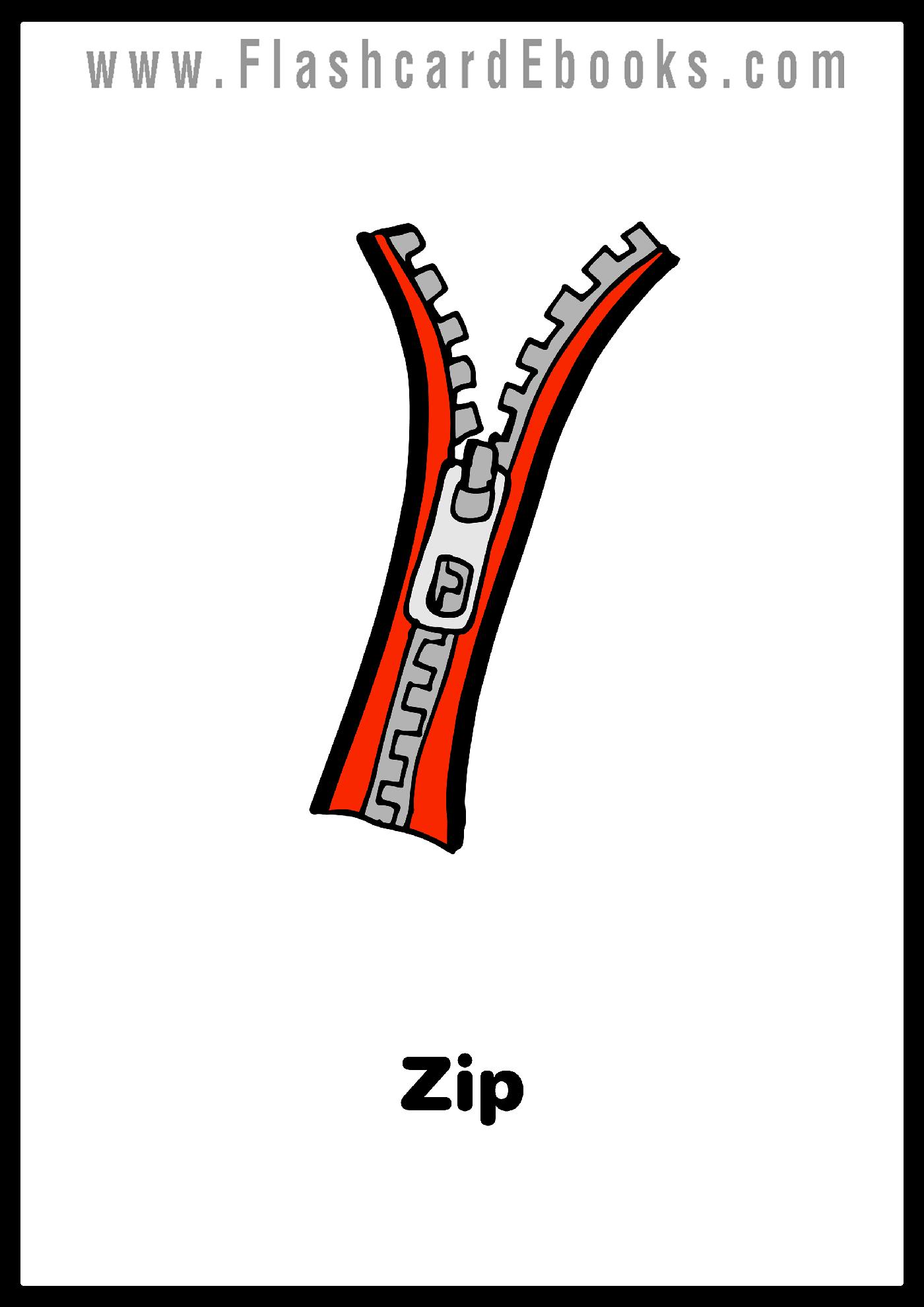 English Flashcard Kindle Zipper Zip