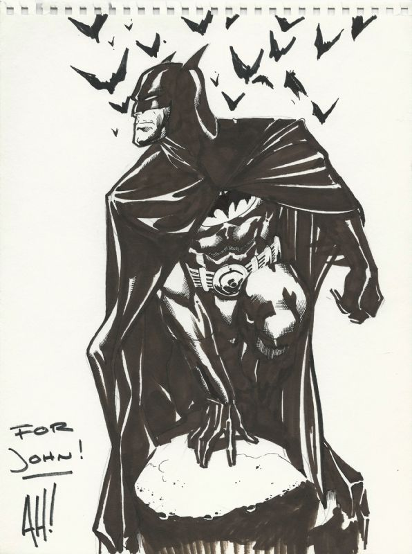 The Women Of Dc Comics Ink In Adam Withers S Dc Comics: BATMAN COMMISSION By Adam Hughes Comic Art