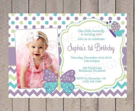 butterfly birthday invitation, garden party birthday invitation, Birthday invitations
