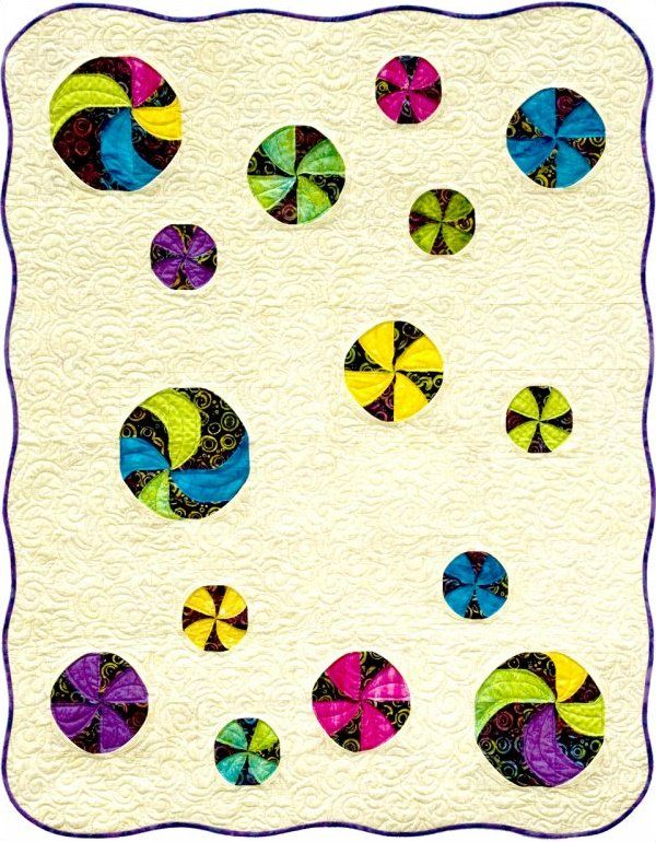 Beach Balls quilt pattern by Annette Ornelas at Southwind Designs