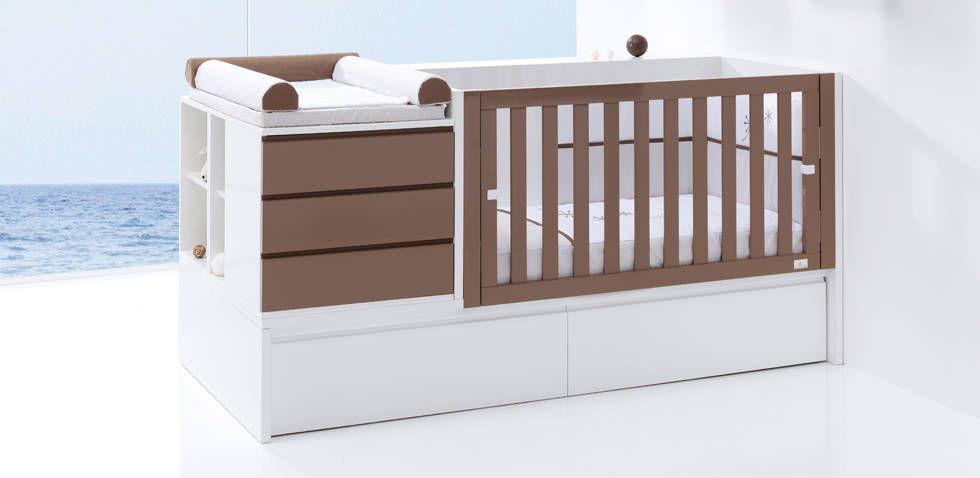 Konver Convertible Crib And Drawers Cuna Con Cambiador