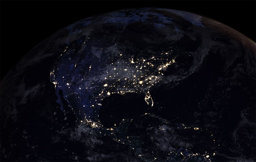 Nasas black marble shows earths nighttime glow first new global map of earth at night since 2012 shows the growing impact of light gumiabroncs Image collections