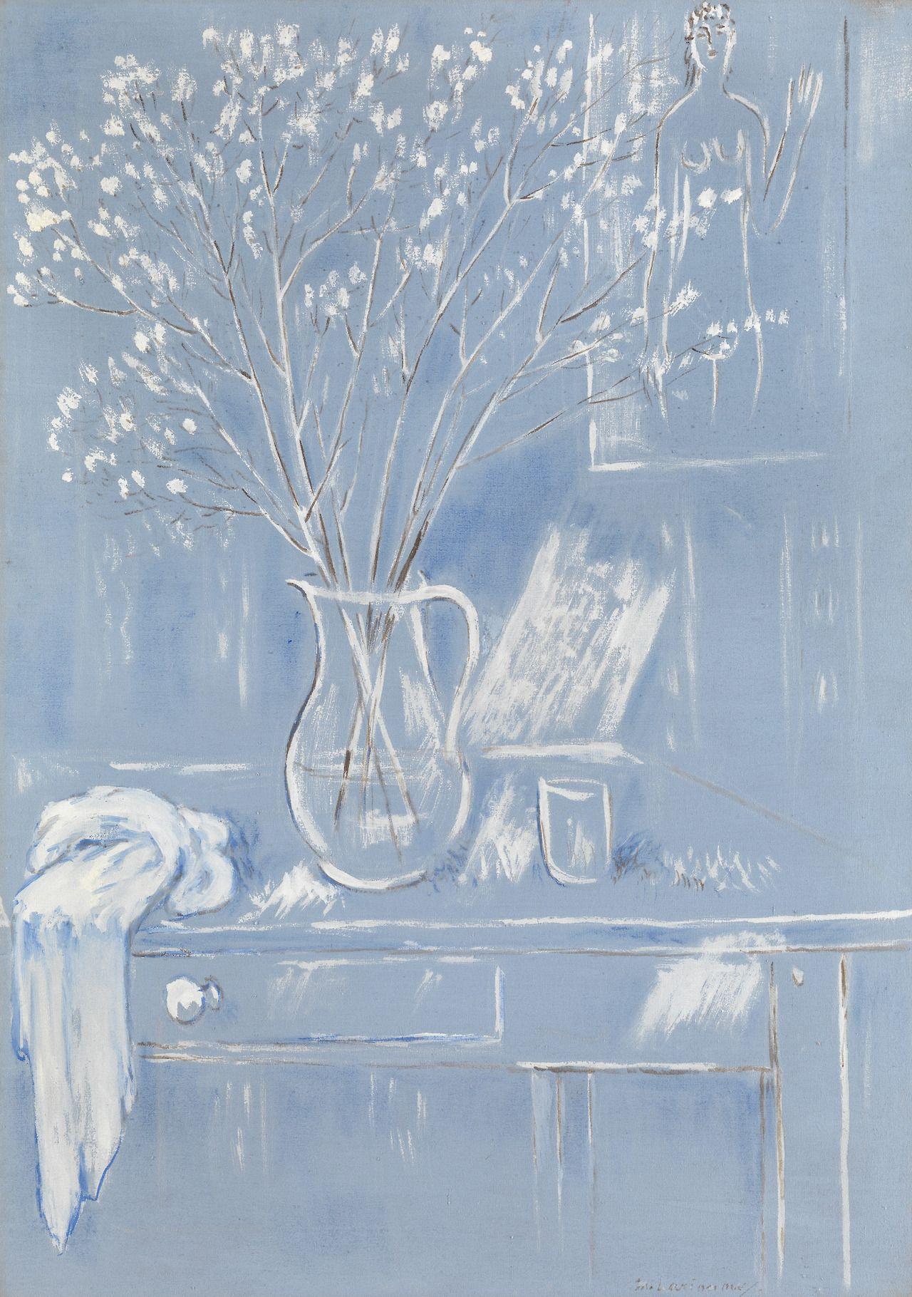 blastedheath:  Mikhail Larionov (Russian, 1881-1964), Still Life with Flowers. Tempera on canvas, 92 x 65cm.
