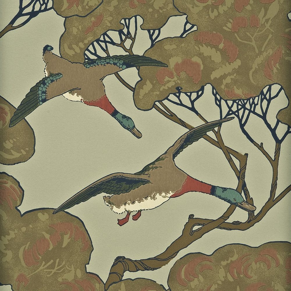 Add iconic Mulberry Home design to your home with this Flying Ducks wallpaper from Mulberry Home. Part of the Heritage collection of wallpapers, this pattern was first designed in 1929 and features...