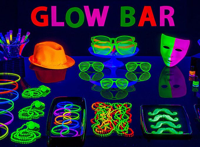 Trip the lights fantastic with epic ideas for glow sticks, drinks & more