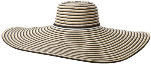 0066de7547358d San Diego Hat Company San Diego Hat Women's Striped Extra Large Brim Floppy  Hat on shopstyle.com