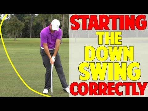 How To Start The Downswing In Golf - YouTube | Golf | Golf