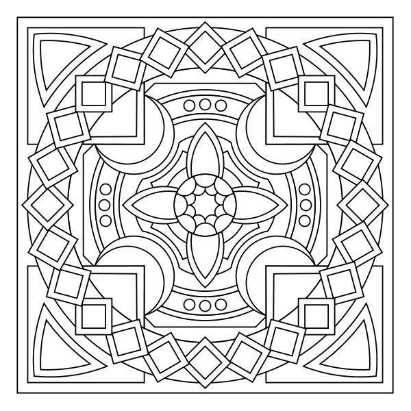 Blank Coloring Page Mandala Hawaii Dermatology Pic 15 Search ...