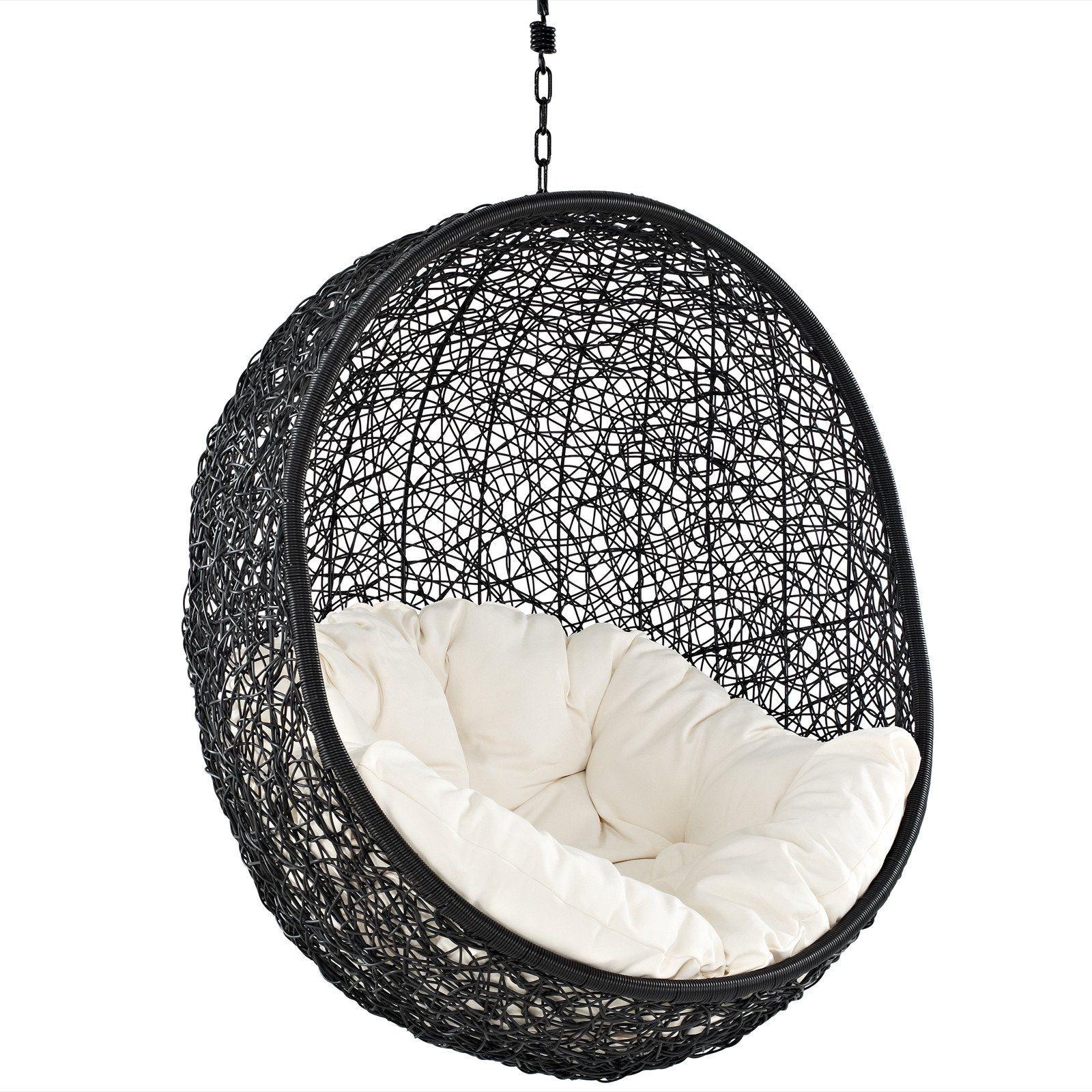 Modway furniture encase swing outdoor patio lounge chair eeiset