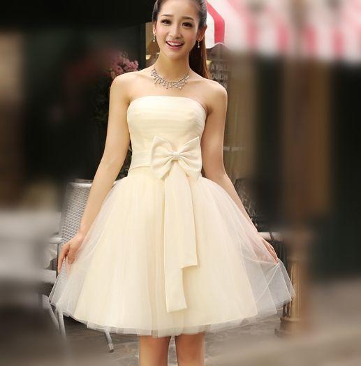 china champagne formal dress