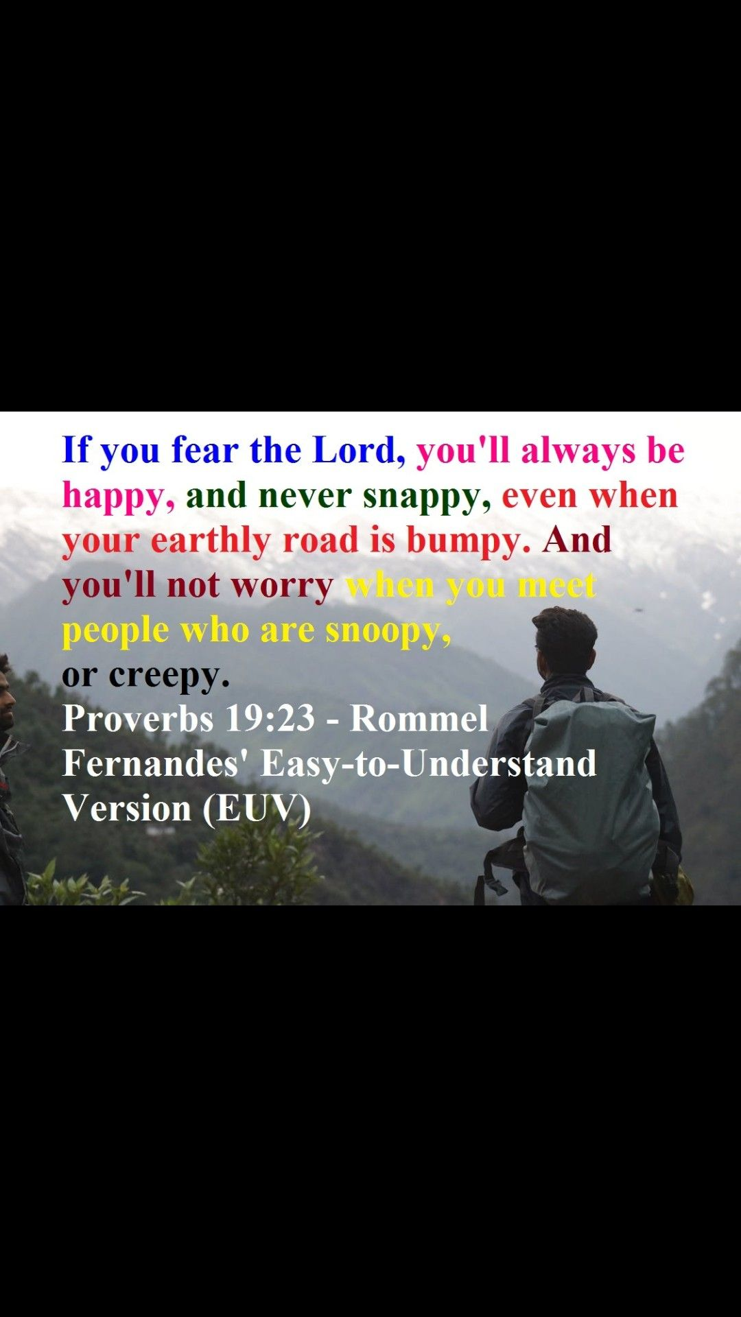 Proverb 19 23 Fear Of The Lord Paraphrase Prov 14