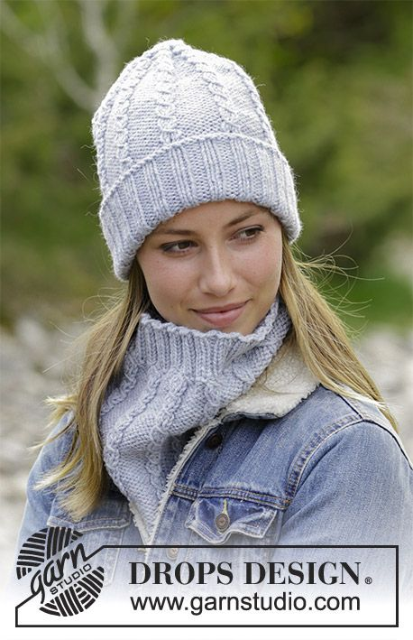 Sugar Twists The Set Consists Of Knitted Hat And Neck Warmer With