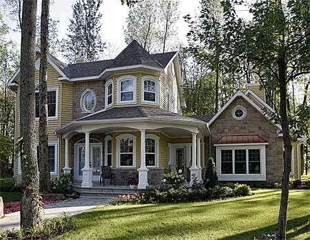 Plan 2142dr Victorian With Appealing Veranda Victorian House Plans Victorian House Colors Victorian Homes