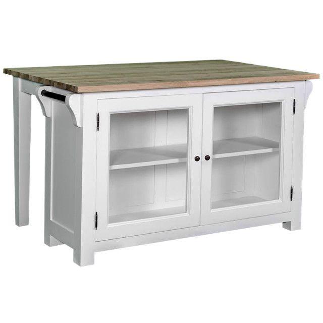 weiße Landhauskücheninsel - Kücheninseln - Küchenmodule - Küche - ikea sideboard küche