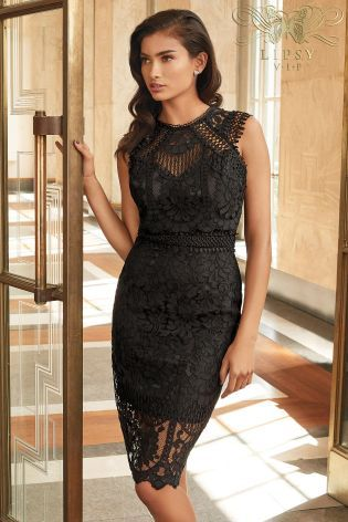 cc7af6e4619cf Buy Lipsy VIP Embroidered Lace Midi Dress from the Next UK online ...