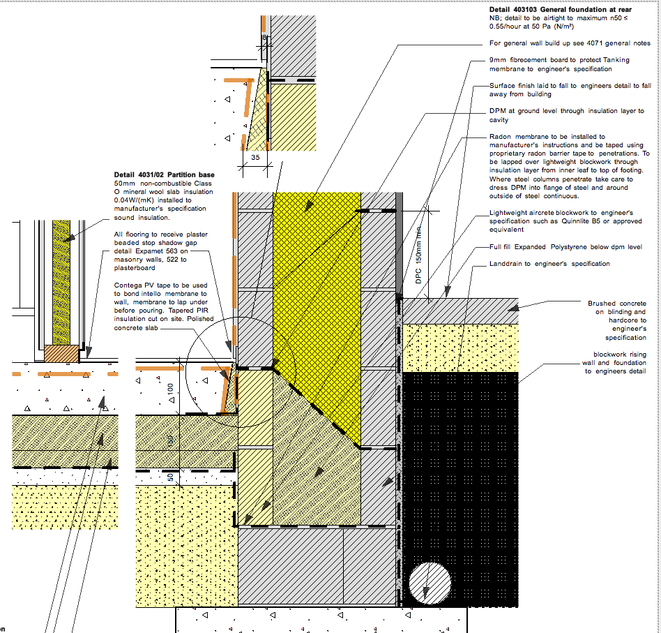 Passive House Pharmacy Construction Update Cavity Wall Details Cavity Wall Passive House Concrete Slab Foundation