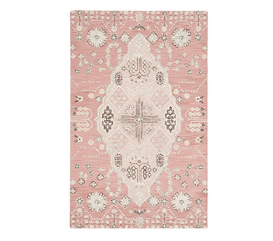 Isabelle Rug 3x5 Feet Light Pink Multi Rugs Pottery