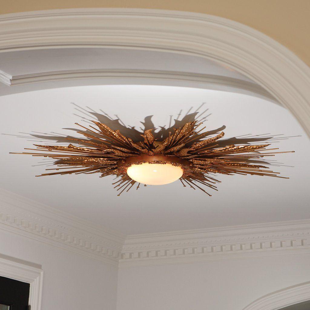 Flame Light Fixture Gold Light Fixtures Ceiling Lights Ceiling