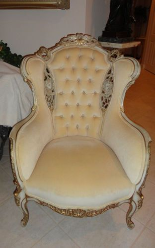 Pr Antique French Louis Xv Victorian Wingback Chairs Ebay