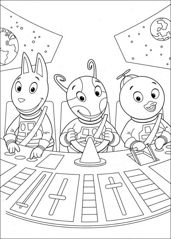 Kleurplaat Backyardigans Backyardigans Coloring Pages