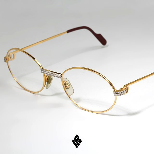 7a97c27320a Custom Diamond Servicing On Gold Cartier Glasses