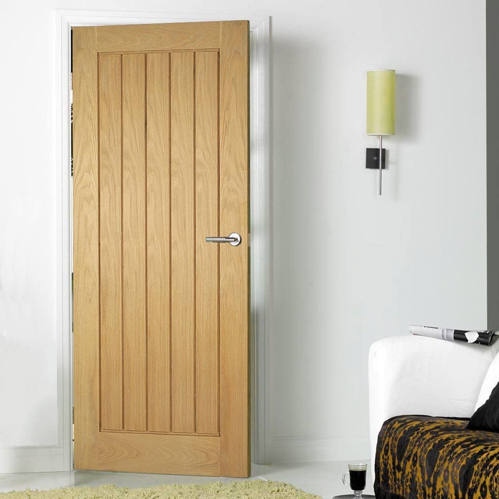 Door and Frame Kit, Mexicano Oak Door - Vertical Lining ...