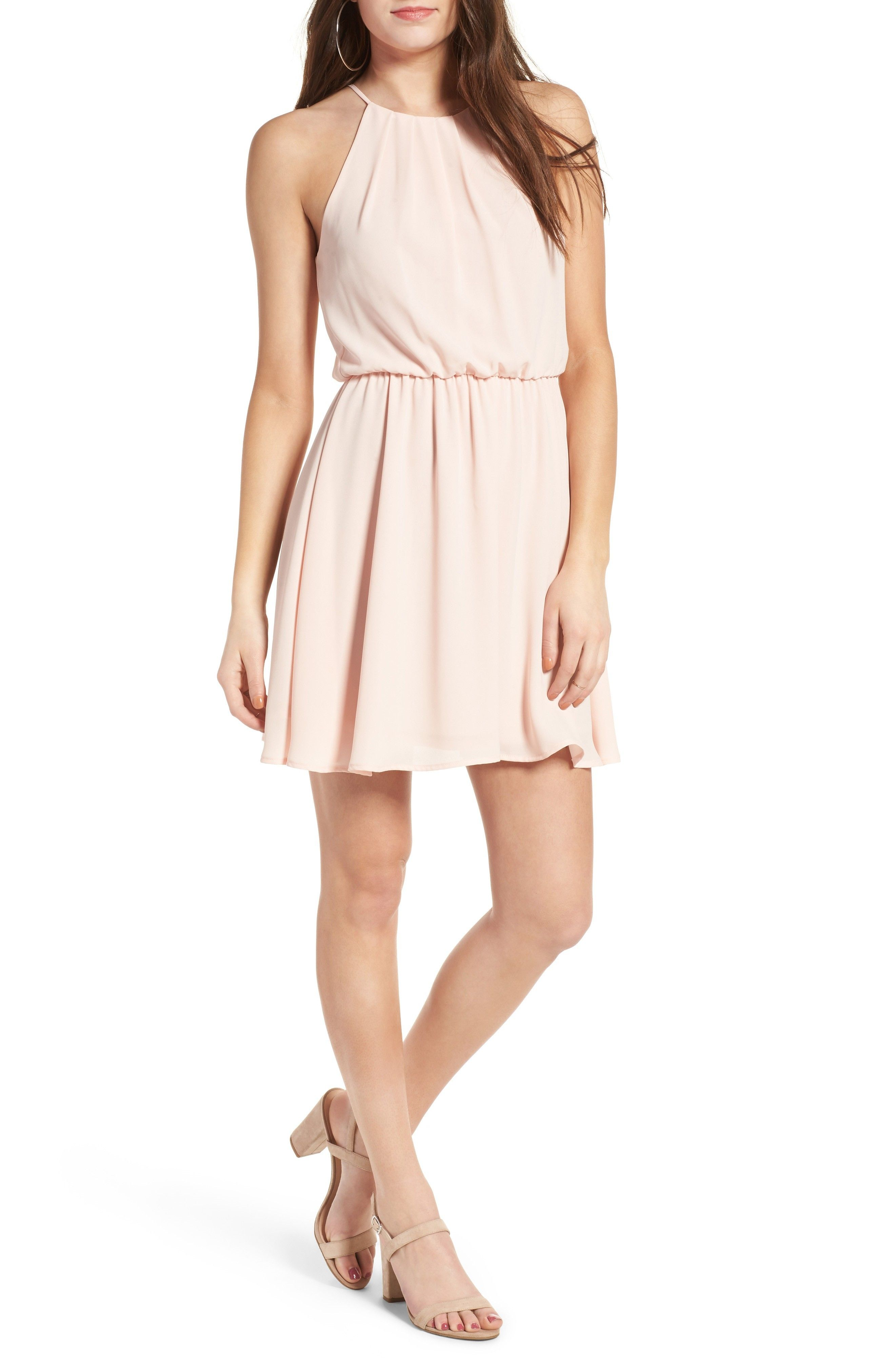 Blouson Chiffon Skater Dress pink from nordstrom lush   Since I\'m ...