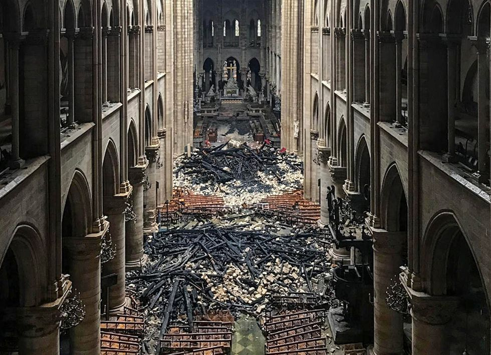 The First Photos From Inside Notre Dame Show Destruction