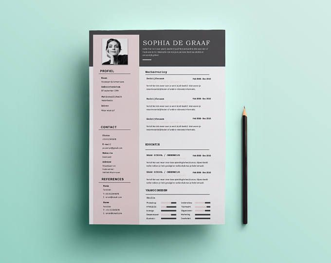 Cute Resume Templates Cute & Minimal Resume Template  Heycv Template For Word Instant