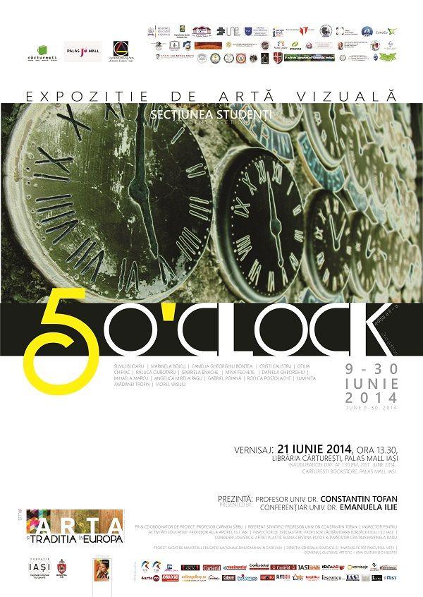 Five O'Clock, expozitie de arta vizuala la libraria