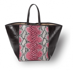 Snakeskin and other animals prints don't have to displayed on tiny canvases.   Sometimes, when you pair the Page Snakeskin tote with the right outfit, it's okay to go BIG!  Click through to learn more at Clava.com.