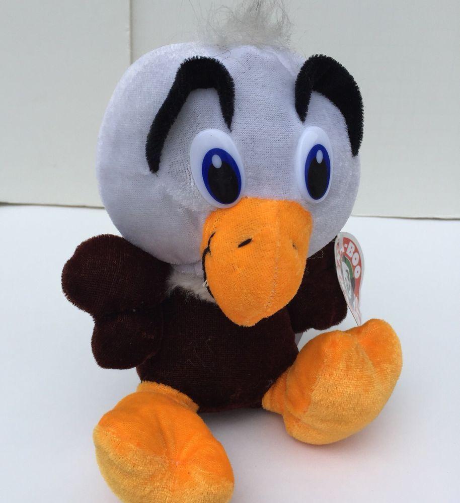 Peek A Boo Toys Eagle Plush Stuffed Animal Brown White Orange Bird 6