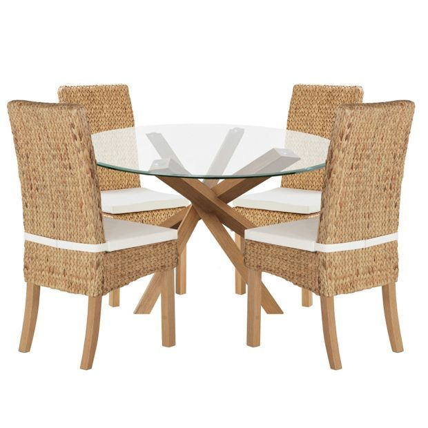 buy home of style abbotsley dining table with 4 rattan chairs at rh pinterest com