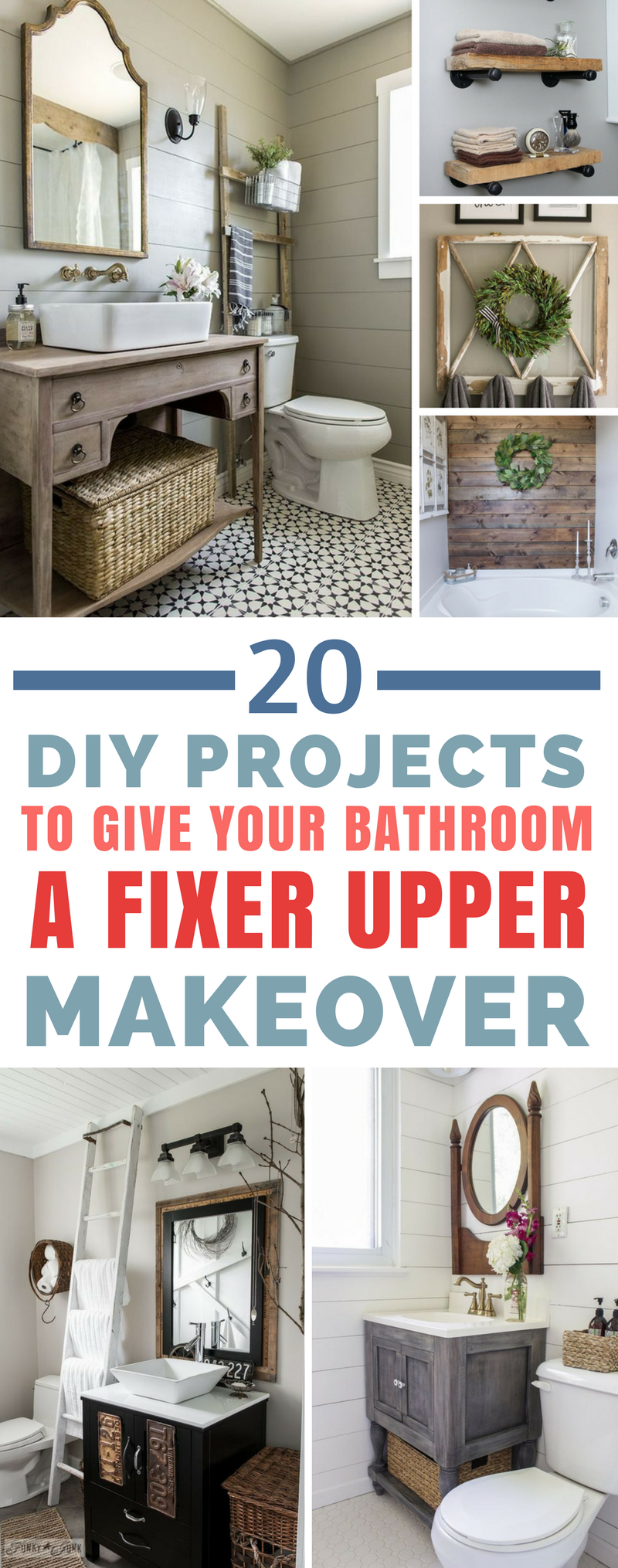20 Fabulous Farmhouse DIY Projects to Makeover Your Bathroom Fixer Upper Style 20 Fabulous Farmhouse DIY Projects to Makeover Your Bathroom Fixer Upper Style A Cultivated...