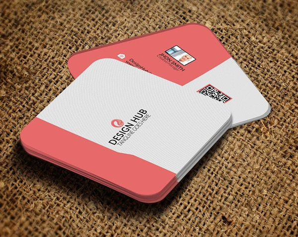 Mini Social Business Card Template Psd Templates Square Cards