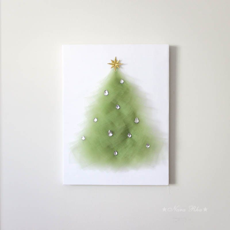 Christmas Tree Wall Art | Tree wall art, Christmas tree and Canvases