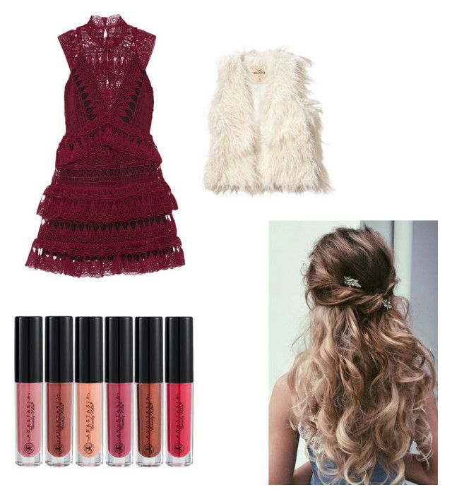 """""""Untitled #6"""" by tennisdiva812 on Polyvore featuring beauty, self-portrait, Hollister Co. and Anastasia Beverly Hills"""