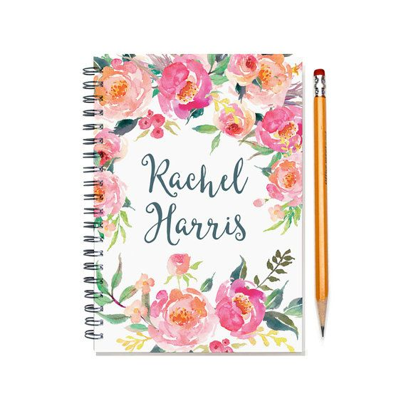 2017 Month Planner, Personalized Calendar Notebook or Journal