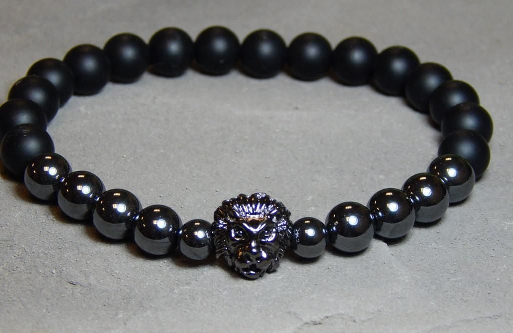 gray black men bracelet matte jasper rh products pewter with mens onyx beads w and s bead