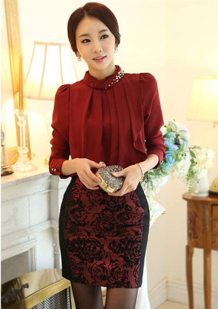 6bf9f13636 Elegant office lady styles | Office Lady Looks | Fashion, Office ...