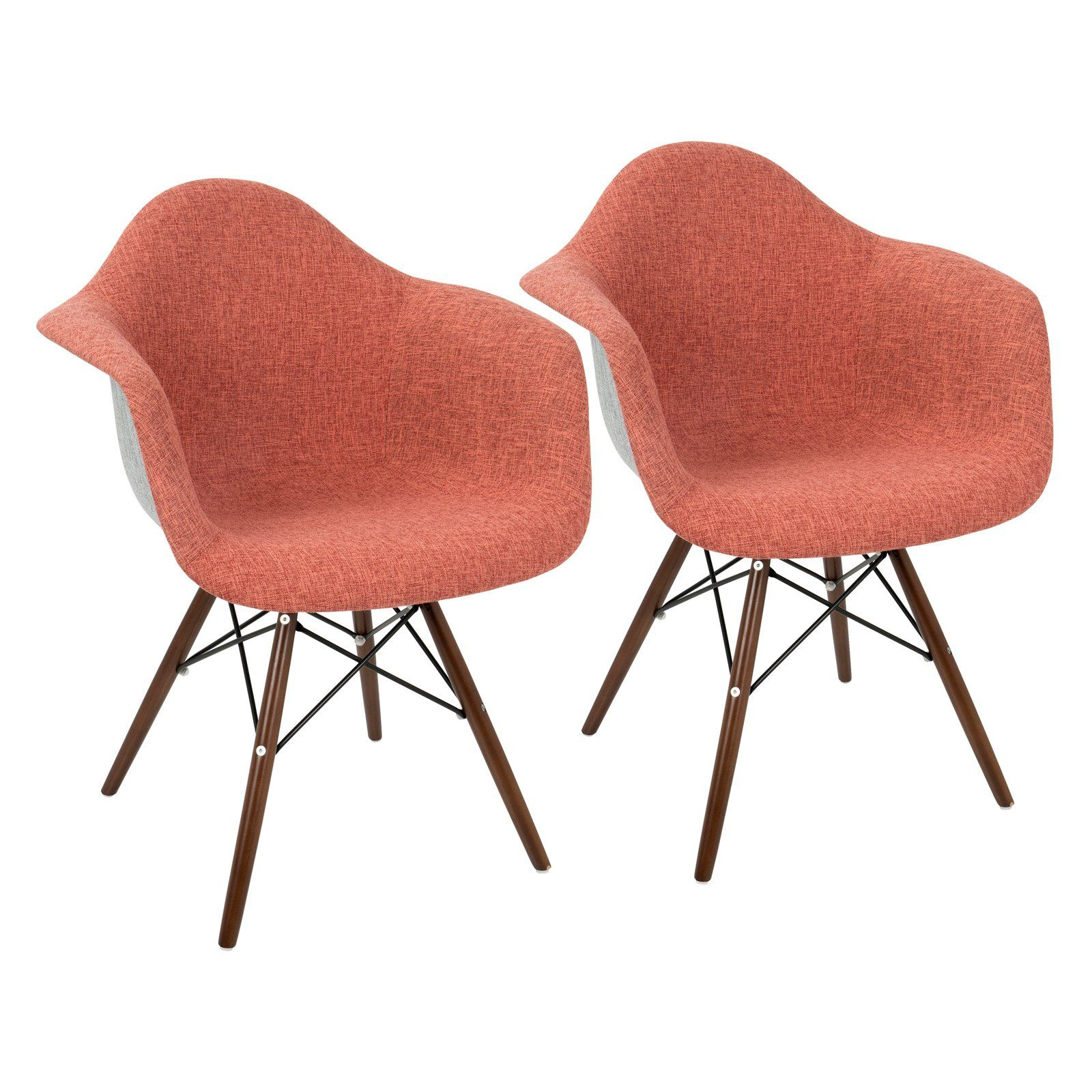 Best Lumisource Neo Flair Duo Mid Century Modern Accent Chair 400 x 300